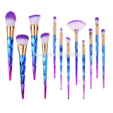 Unicorn Horn Make Up Brush Blue Diamond (12 pcs)
