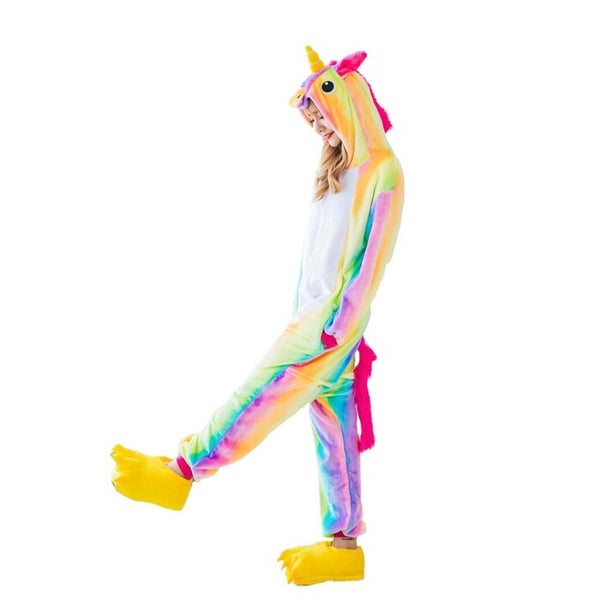 Adult Ladies Rainbow Unicorn Onesie