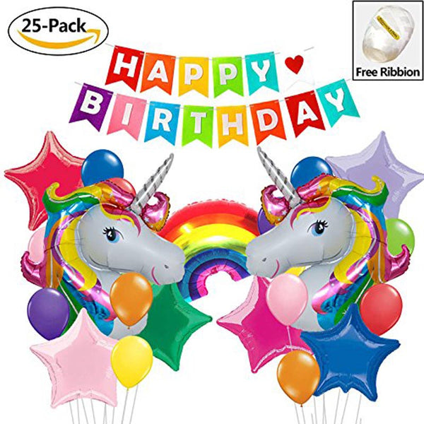 Unicorn Party Decoration Balloon Set 24 pieces