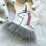 Dreamy Grey Unicorn Dress