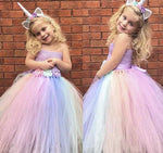 Summer Rainbow Tutu Dress with Unicorn Hairband