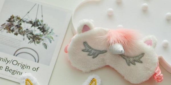 Plush Unicorn Eye Mask