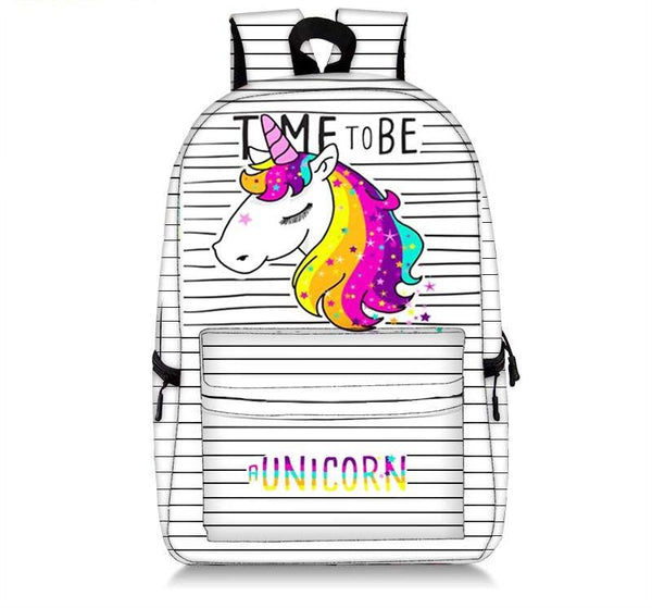 Time to Be Unicorn Striped Bag
