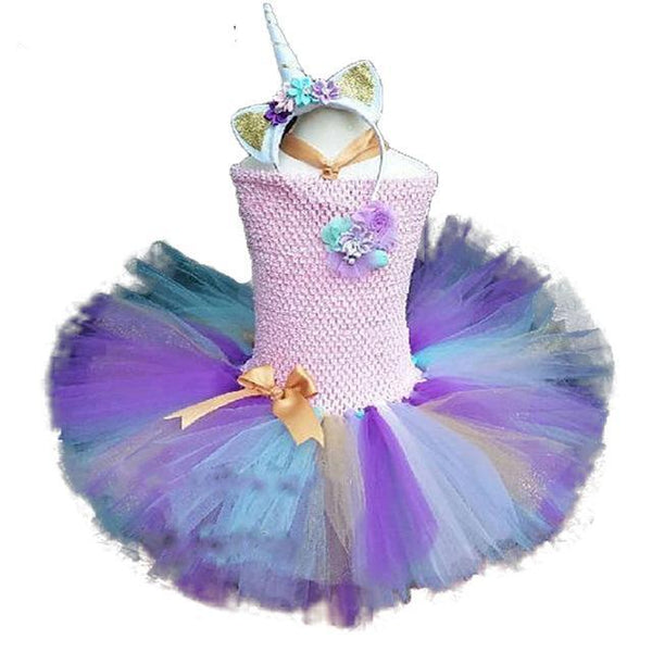 Twirly Wurly Unicorn Tutu Dress