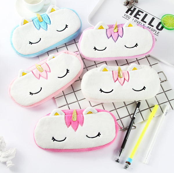 Plush Unicorn Plush Pencil Case
