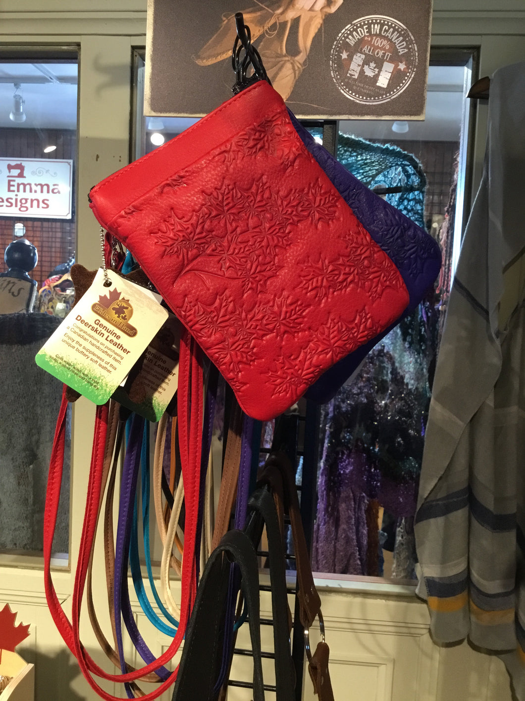 HH1-005 Deerskin Cell Phone Purse