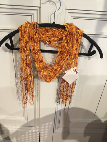 BS1-1469 Lacey Scarf, Orange
