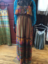 TB1-085 Silk Maxi Dress various colours by Guru long sleeve
