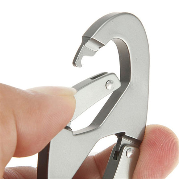 Aluminum Double Carabiner Snap Clips