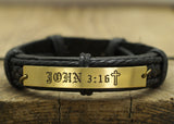 John 3:16 Bible Verse Bracelet, Personalized Scripture