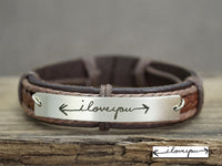 Coordinate Bracelet, Inspirational Quote Bracelet