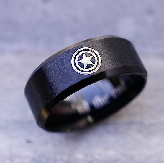 Captain America jewelry Ring, Super Hero Ring, Custom Symbol Ring