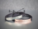 Custom Coordinates Bracelets, Matching Couple Bracelets, His and Hers