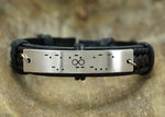 Custom Morse Code Bracelet, Hidden Message Bracelet, Infinity Engraved Leather Bracelet