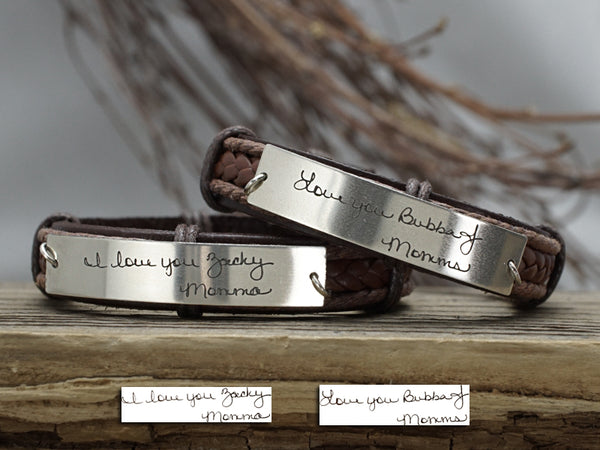 Actual Handwriting Bracelets, Signature Bracelets for Friendship