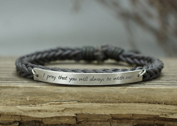 Long Distance Relationship Bracelets for Couple, Best Friend, No Matter Where Bracelet, Cord Braided