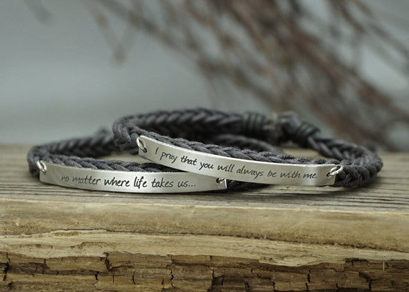 Long Distance Relationship Bracelet, Best Friend Bracelet