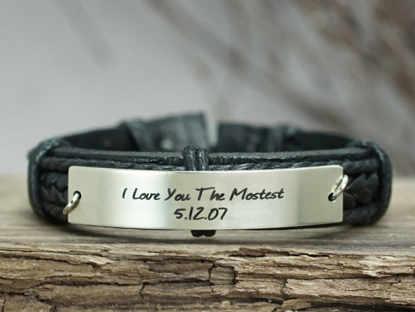 Personalized Bracelet, Inspirational Quote Bracelet, Engraved Bracelet
