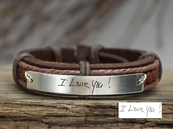 I Love You Bracelet, Girlfriend Gift, Signature Bracelet
