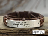 Bible Verse Signature Bracelet, Personalized Scripture Bracelet