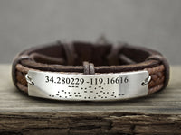 Morse Code Bracelet, Coordinate Bracelet, Secret Message Engraved Bracelet