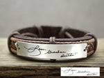 Signature Bracelet for Grandma, Handwriting Bracelet