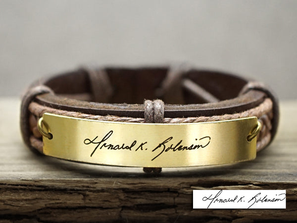 Personalized Signature Bracelet, Custom Handwriting Bracelet, Engraved Name Bracelet
