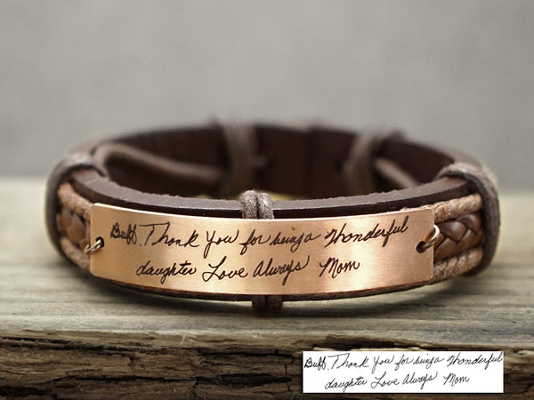 Custom Handwriting Bracelets, Signature Bracelet, Mom Daughter Jewelry