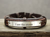 Personalized Mens Leather Bracelet, Game of Thrones Bracelet