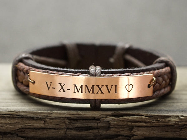 Personalized Bracelet For Him Dad Timjeweler