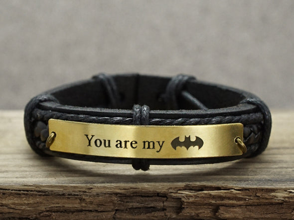 You are My Batman Bracelet, Superhero Bracelet, Fathers Day Gift