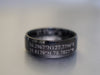 Custom Coordinates Ring for Two Locations, Latitude Longitude Ring