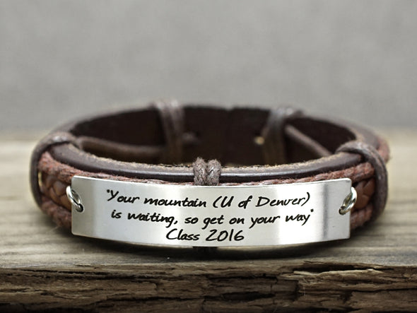 Personalized Graduation Bracelet, Engraved Inspirational Bracelet