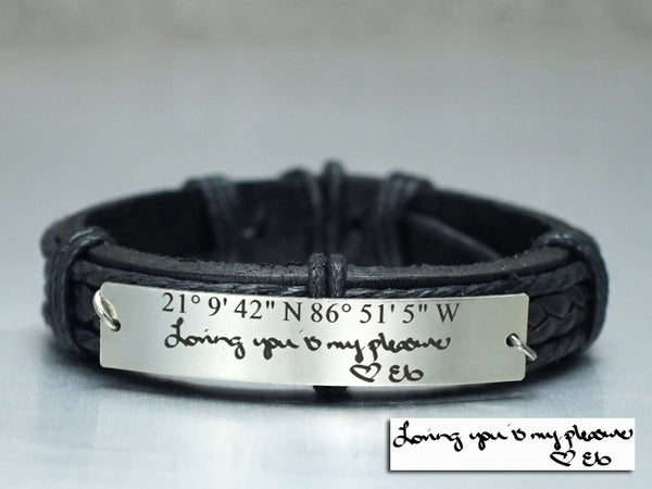 Custom Handwriting Bracelet, Signature Bracelet