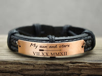 My sun and stars bracelet, Game of Thrones, Personalized Date Bracelet