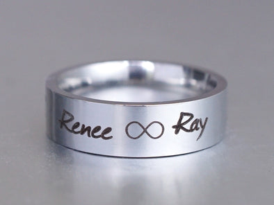 Personalized Infinity Ring, Promise Ring, Infinity Name Ring