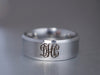 Silver Monogram Ring, 3 Initial Monogrammed Ring, Engraved Ring