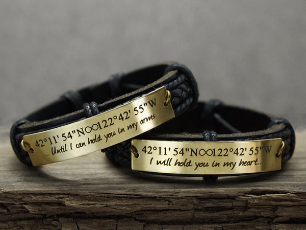 Couples Bracelets- Until I Can Hold You In My Arms I Will Hold You In My Heart