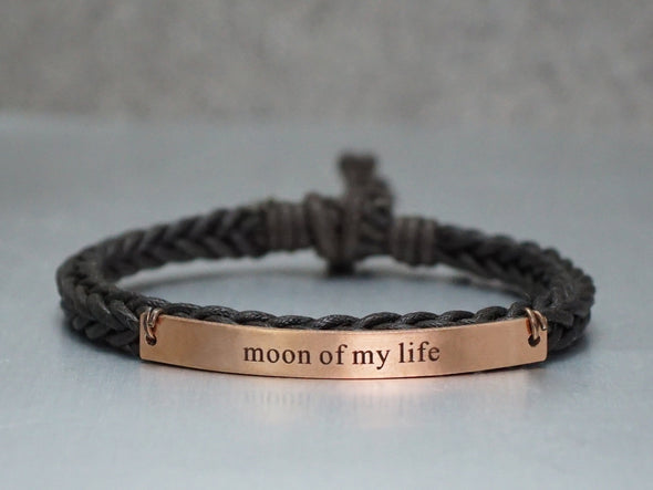 Game of Thrones Bracelets, Moon of my life- my sun and stars, Couple Bracelet, Cord Braided bracelet