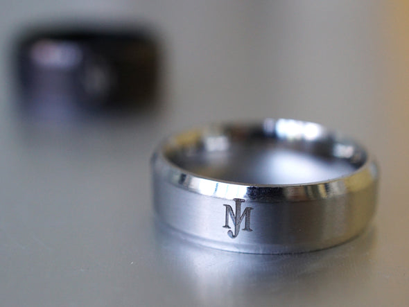 His and Hers Rings, Personalized Initial Rings, Monogram Rings, Couple Ring Set, Name Engraved Ring