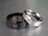 Matching Couple Initial Rings, His and Hers Rings, Personalized Monogram Rings