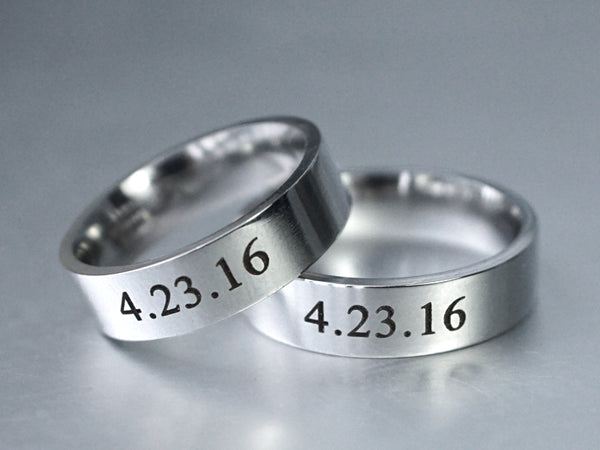 Couples Ring, Date Ring Set, Matching Couple Rings, His and Her Ring