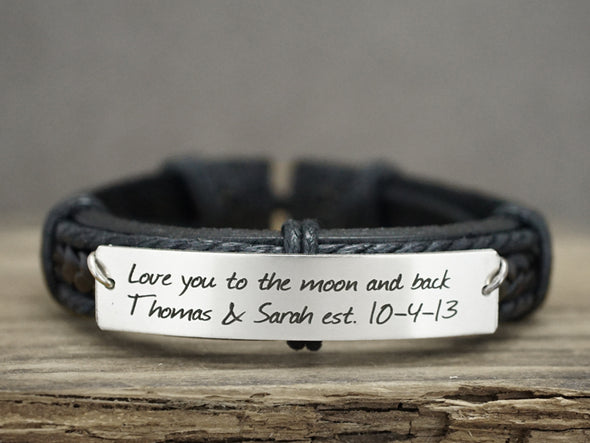 Love you to the moon and back Bracelet, Love Jewelry, Mom Daughter