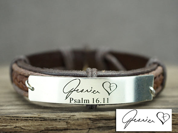 Memorial Jewelry Signature, Bible Verse Bracelet, Handwriting Scripture Bracelet