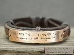 Custom Handwriting Coordinate Bracelet, Memorial Signature Bracelet