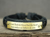 Mens Engraved Bracelet, Stepdad / Stepmom / Adoptive Father Gift