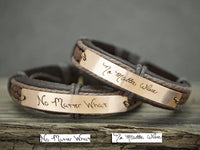 Best Friend Handwriting Bracelets set of two, Signature Bracelets, No Matter Where