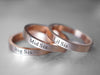 3 Sisters Ring Set, Rose Gold Rings, Sister jewelry