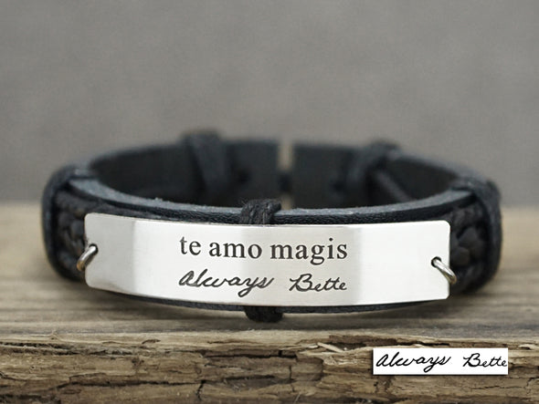 Te Amo Magis Bracelet- I Love you More, Spanish Jewelry, Signature Engraved Bracelet