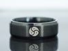 BDSM Triskelion Band, Triskele Emblem Ring, Personalized symbol Ring